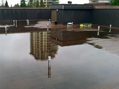 Ponding Water on Roof Repairs Toronto