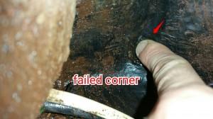 roof membrane failure