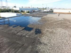 roof membrane weakens